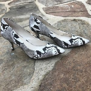 Alfani Step N Flex Snake Print Heels Size 9